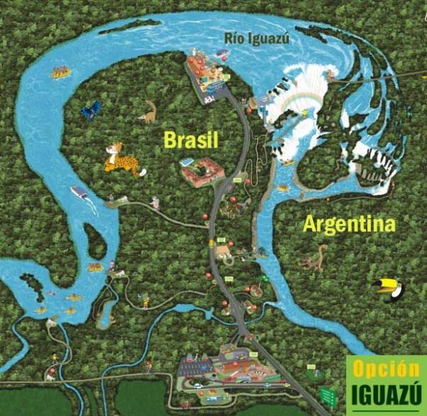 mapa cataratas